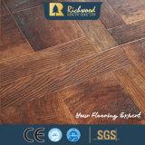 plancher en bois de stratifié en bois de Laminbate de noix de texture de fibre de bois de 12.3mm