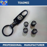 Пылезащитный колпачок клапана автошины автомобиля логоса автомобиля высокого качества с чернотой Keychains