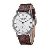 2017 het Hoogste Timepiece van de Band van het Leer van het Roestvrij staal van het Merk 316L Echte Horloge van Mensen