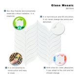Do Seashell branco material da arte da decoração do edifício folhas de vidro da telha do mosaico