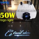 A luz de logotipo a mais nova do projetor 50W do diodo emissor de luz para projetar-se na parede e no telhado do assoalho