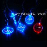 Kundenspezifische blinkende Halsketten des Firmenzeichen-LED für Förderung