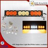 90W 16.6inch choisissent la rangée avec barre blanche/ambre d'éclairage LED de couleur