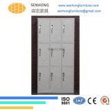9 أبواب خزانة ثوب معدنة خزانة لأنّ تخزين إستعمال