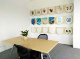 Mobilia della stanza da bagno del coperchio della toletta di Duroplast di paesaggio del getto di inchiostro di HD bella