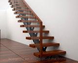 Cable Barandilla Escalera con la madera maciza de madera de la banda de rodadura y Top Baranda