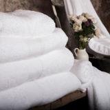 Essuie-main blanc de qualité de 100% (DPF2514)