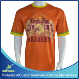 T-shirt curto Sublimated costume do tiro do Lacrosse da luva