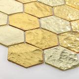 Telhas luxuosas do mosaico do cristal do ouro da decoração da parede para a parte externa