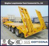 Cuello de ganso de camiones cama baja semirremolque Excavadora Trasnsporting