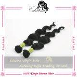 cabelo humano peruano Curly frouxo do cabelo peruano do Virgin 7A