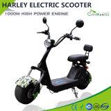 Мотоцикл самоката удобоподвижности самоката Citycoco Harley электрический с батареей лития