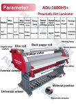 18 laminador de papel neumático automático 2 del rodillo de la ISO 1600m m del Ce del año en 1 caliente frío