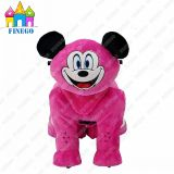 Mickey Plush Children Happy Electronic Walking Animal Toy Riding Car