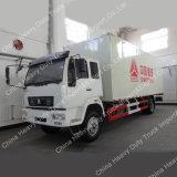 Cnhtc 8-9tons 4X2 상자 유형 경트럭