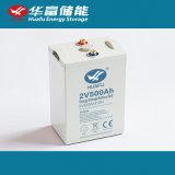bateria acidificada ao chumbo recarregável do AGM 2V500ah para a potência solar