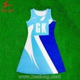 Равнина печатание тканья ODM цифров Healong линия платье Netball