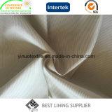 100%年のポリエステル極度の柔らかい人のスーツの縞の袖のライニング
