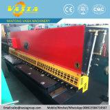 Máquina QC12y-6X3200 de corte hidráulica com estrutura do feixe do balanço