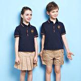 Polo Shirt&Shorts de Unifrom de la alta calidad y diseño primario del uniforme escolar de la falda