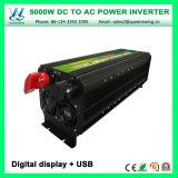 Inverseur d'énergie solaire de DC12V AC220V 5000W avec l'affichage numérique (QW-M5000)