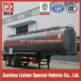 Doppeltes Axle 35000L Oil Tank Semi Trailer mit Single Tire