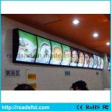 Cadre léger de publicité acrylique de panneau de menu de DEL