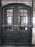 China-Verkaufsschlager-Stahlvordere Eisen-Glastür