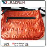 Saco de compra não tecido da mão da lona do algodão do couro do saco de compra da trouxa (X0748)