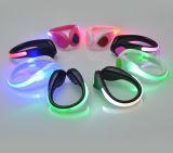 Luz de piscamento da sapata do diodo emissor de luz do grampo ao ar livre da segurança