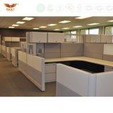 Poste de travail rond classique de bureau de compartiments de bâti moderne en métal