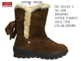 第50249 Cotton Boots Stock Shoes 3 Coloesの女性