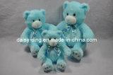 Orsi blu dell'orsacchiotto di grande seduta della peluche con materiale molle