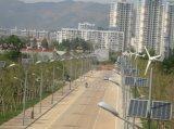 Luz de calle horizontal del híbrido 60With100With120W LED del panel solar de la turbina de viento del eje
