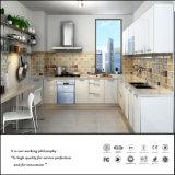 L形の平野の白い食器棚(ZH926)