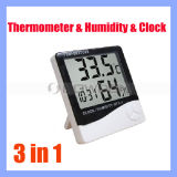 Thermometer-Hygrometer-Borduhr-Temperatur-Feuchtigkeits-Messinstrument LCD-Digital Thermo