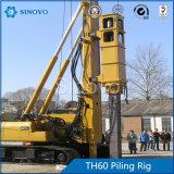 Equipamento hidráulico versátil da pilha TH-60 para a construção da fundação