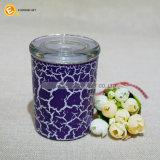 Glassüßigkeit-Speicher-Glas mit Farben-Knistern-Lack