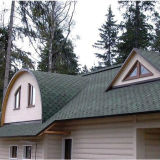 5-lusje Asphalt Roof Shingle met ISO Approved (Blue /Green /Red /Grey)
