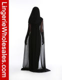 Costume Cosplay ведьмы привидения женщин платья партии Halloween черный