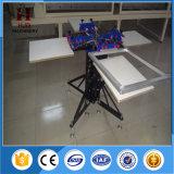 Impresora manual de la pantalla de la impresión sobrepuesta doble de la rueda