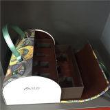 Caixa cosmética de couro da jóia da caixa das mulheres da caixa do plutônio