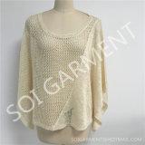 新しい女性の方法不規則なセーターのブラウス(SOI1757)
