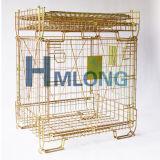 El animal doméstico plegable embotella la jaula amontonable industrial del acoplamiento de alambre del almacenaje