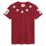 T-shirt estampé par coton fait sur commande de mode d'hommes