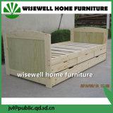 저장 작은 바퀴 서랍 (WJZ-B24)를 가진 단단한 소나무 침대겸용 소파