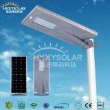 80W im Freien integrierte LED Solarstraßenlaterne mit Bewegungs-Fühler für Garten
