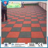 Azulejo de suelo de goma, azulejo de suelo de goma al aire libre, pavimentadora de goma colorida