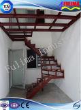 Escalera de pintura de la estructura de acero para el suelo de entresuelo (FLM-SP-003)