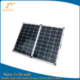 100W Portable Folding Solar Module Made par Monocrystalline Solar Cell Silicon (SGM-F-2*50W)